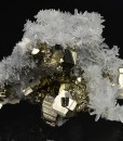 Quartz on Pyrite, Calcite