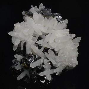 Quartz, gem Sphalerite var. Cleiophane, Galena