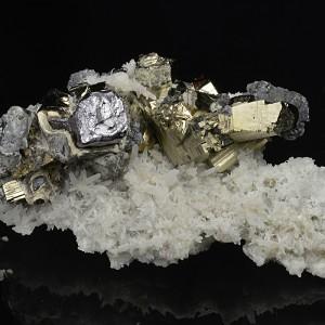 Pyrite, Galena, Quartz