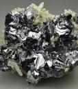 Twinned Galena, Quartz, Calcite