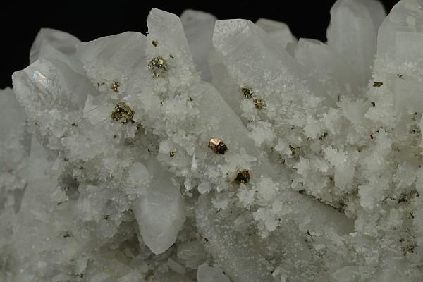 Quartz with growth phantoms, Pyrite, Galena