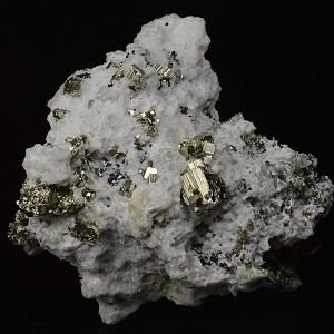 Pyrite, Quartz, Calcite, Sphalerite