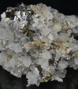 Quartz, Sphalerite, Pyrite, Chalcopyrite