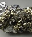 Pyrite, truncated Galena, Quartz