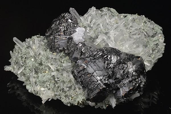 Sphalerite, Galena, Quartz, Pyrite