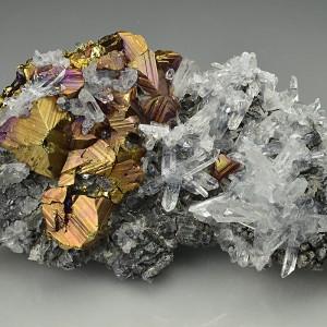 Iridescent Chalcopyrite, Quartz, Galena