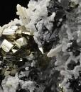 Quartz, Pyrite, Sphalerite, Calcite