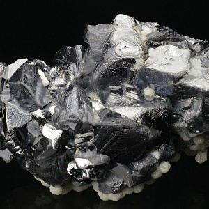 Twinned Galena, Calcite