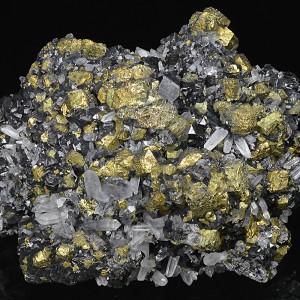 Iridescent Chalcopyrite, Quartz, Sphalerite