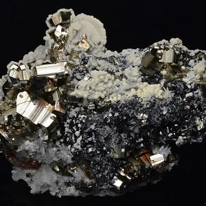 Pyrite, Sphalerite, Calcite, Quartz