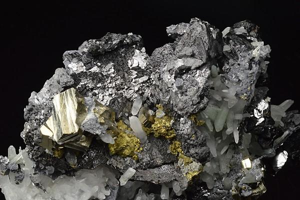 Galena, Sphalerite, Quartz, Chalcopyrite, Pyrite