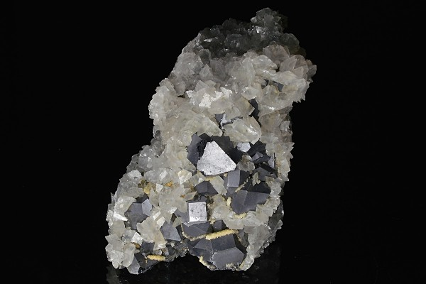 Twinned Galena, Calcite