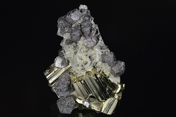 Truncated Galena, Quartz, Pyrite