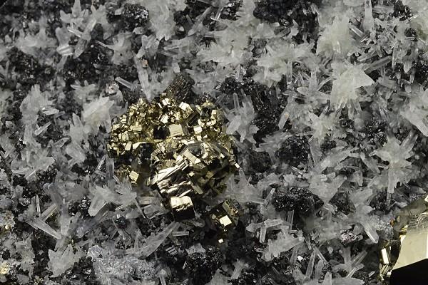 Quartz, Sphalerite, Pyrite, Galena