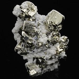 Calcite on Pyrite