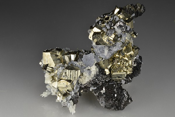 Pyrite, Quartz, Sphalerite, Galena