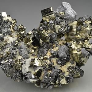 Pyrite, Galena, Sphalerite, Quartz, Calcite