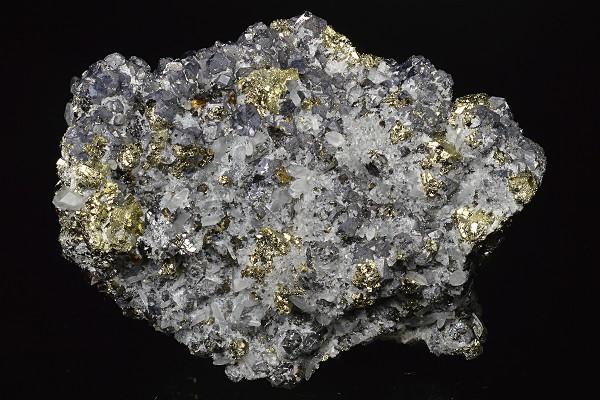 Truncated Galena, Chalcopyrite, Pyrite, Sphalerite, Quartz