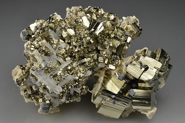 Pyrite, Quartz, Calcite, Galena