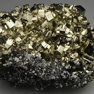 Pyrite, Sphalerite, Calcite