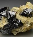 Sphalerite on Quartz, Calcite