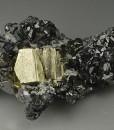Pyrite, gem Sphalerite var.Cleiophane, skeletal Galena, Quartz