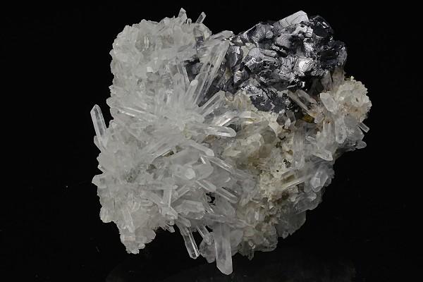Twinned Galena, Quartz, Calcite, Sphalerite