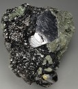 Twinned Galena on Sphalerite, Quartz