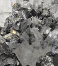 Sphalerite, Galena, Chalcopyrite on Quartz