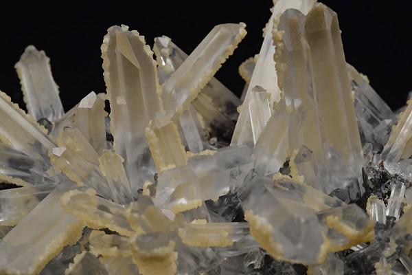 Quartz on Sphalerite tinged with Calcite