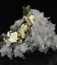 Pyrite on Bi-terminated Quartz