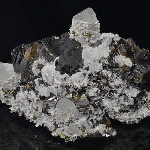 Cleiophane, Quartz, Calcite, Chalcopyrite