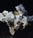 Pyrite, Calcite, Sphalerite, Quartz