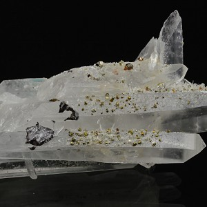 Quartz with Chalcopyrite, Pyrite inclusions