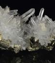 Quartz on Pyrite, Calcite