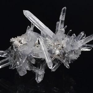 Bi-terminated Quartz, Sphalerite, Calcite
