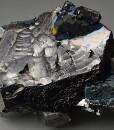 Iridescent Chalcopyrite on Galena, Sphalerite