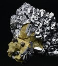 Spinel law twin Galena on Chalcopyrite, Sphalerite
