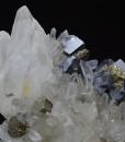 Galena, Chalcopyrite on Quartz, Sphalerite