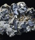 gem Sphalerite var.Cleiophane, Galena, Calcite