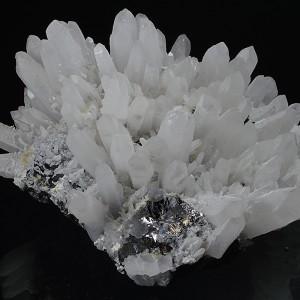 Quartz, gem Sphalerite var.Cleiophane, Calcite