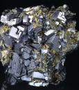 Truncated Galena, Cleiophane, Chalcopyrite, Pyrite