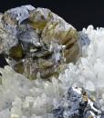 Cleiophane and Galena on Quartz