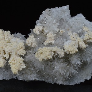 Calcite on Quartz, Chalcopyrite