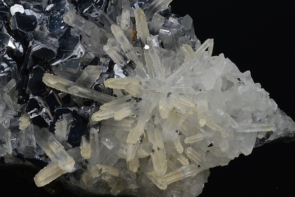 Twinned Galena, Quartz, Calcite