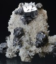Cleiophane, Galena on Quartz, Chalcopyrite