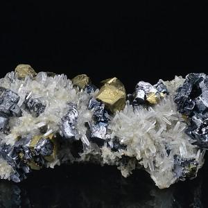 Skeletal Galena, Chalcopyrite, Quartz, Sphalerite