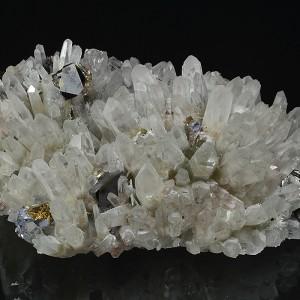 Quartz, Cleiophane, Pyrite, Chalcopyrite