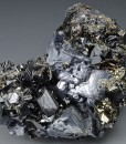 Pyrite on Sphalerite, Galena