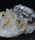 Twinned Galena, Quartz, Pyrite, Calcite